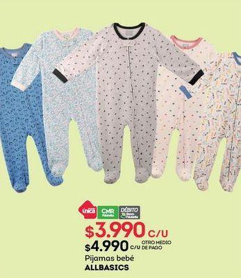 Oferta de Pijama bebé Allbasics por $3990