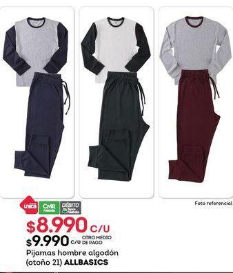 Oferta de Pijama hombre Allbasics por $8990