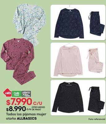 Oferta de Pijama mujer Allbasics por $7990