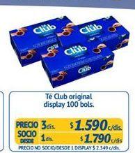 Oferta de Té Club por $1590