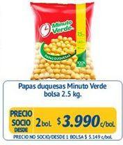 Oferta de Papas fritas congeladas Minuto Verde por $3990