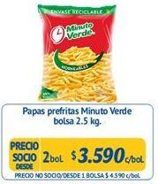 Oferta de Papas fritas congeladas Minuto Verde por $3590