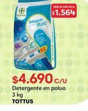 Oferta de Detergente en polvo Tottus por $4690