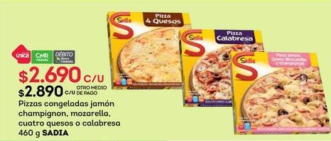 Oferta de Pizza congelada Sadia por $2690