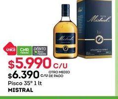 Oferta de Pisco Mistral por $5990