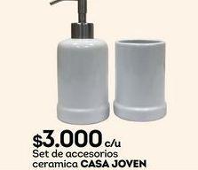 Oferta de Accesorios para baño Casajoven por $3000
