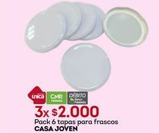 Oferta de Tapas Casajoven por $2000