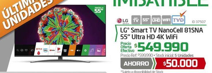 Ofertas de Smart tv led 55'' LG por $549990
