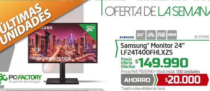 Ofertas de Monitor led 24'' Samsung por $149990