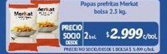 Oferta de Papas fritas congeladas Merkat por $2999