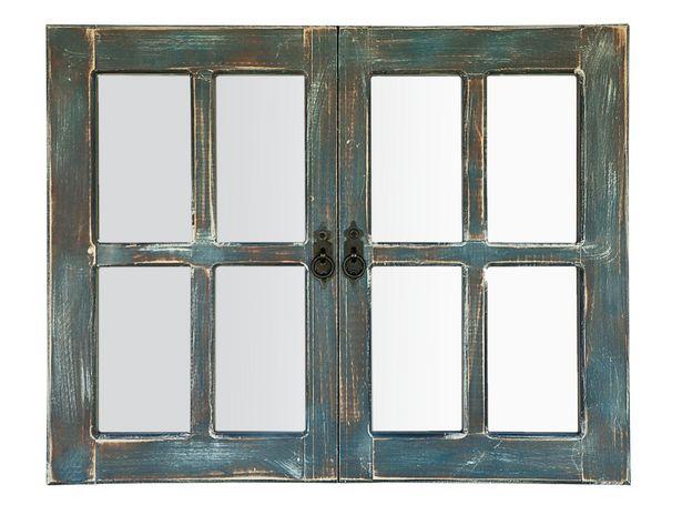 Ofertas de Espejo Attimo Llaima Doble Azul 76 x 60 cm por $52490