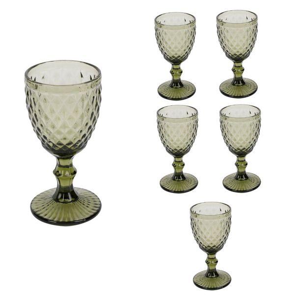Ofertas de Set 6 Copas de Vidrio Verdes 240ml por $15990