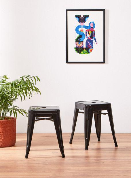 Ofertas de Par Attimo de Pisos Spot Negro por $49990