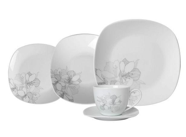 Ofertas de Set Attimo de Loza Flor Gris 30 Piezas Porcelena por $25790