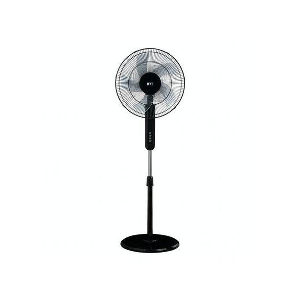 """Ofertas de Ventilador 16"""" Pie 72W Timer/Control Plastico Negro por $34990"""