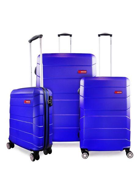 Ofertas de Set Maletas Optwall SwissBag S+M+L Azul por $199990