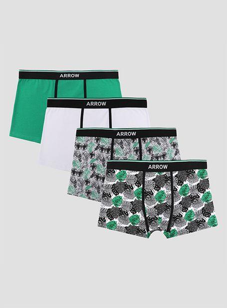 Ofertas de Boxer Arrow Pack 4 Unidades Verde Design por $11990