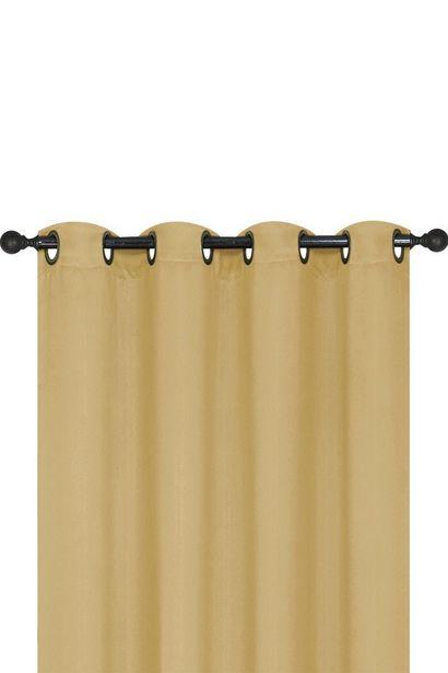 Ofertas de Cortina Black Out con Ojales 140x220 cm Beige por $15990