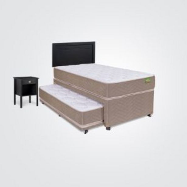 Ofertas de Cama Nido Bamboo 1.5 Plazas + Set Liverpool por $529990