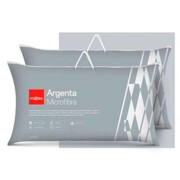Ofertas de Set 2 Almohadas Microfibra Argenta New King 50 x 90 cm por $49980