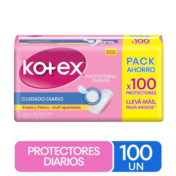 Ofertas de Protector diario Kotex 100 un. por $2599
