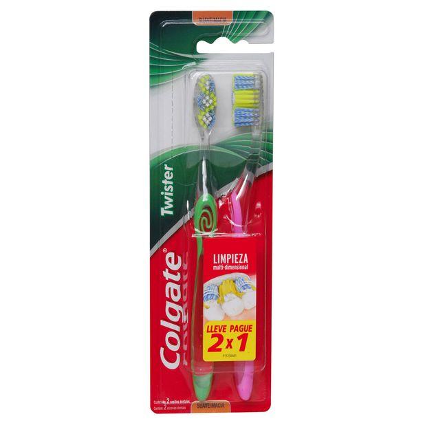 Ofertas de Cepillo dental Twister Fresh suave 2 un. por $2129
