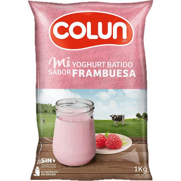 Ofertas de Yoghurt Batido Colun Frambuesa 1 kg por $1450