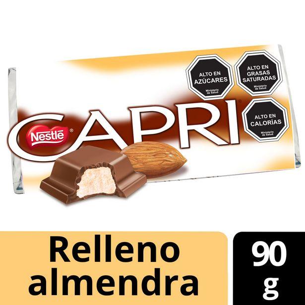 Ofertas de Chocolate Relleno Capri Almendra 90g por $920