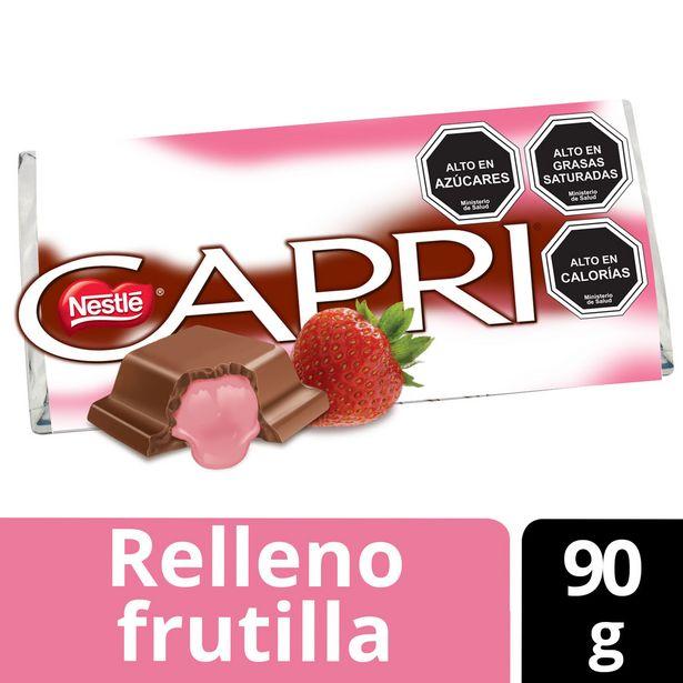 Ofertas de Chocolate Relleno Capri Frutilla 90g por $920