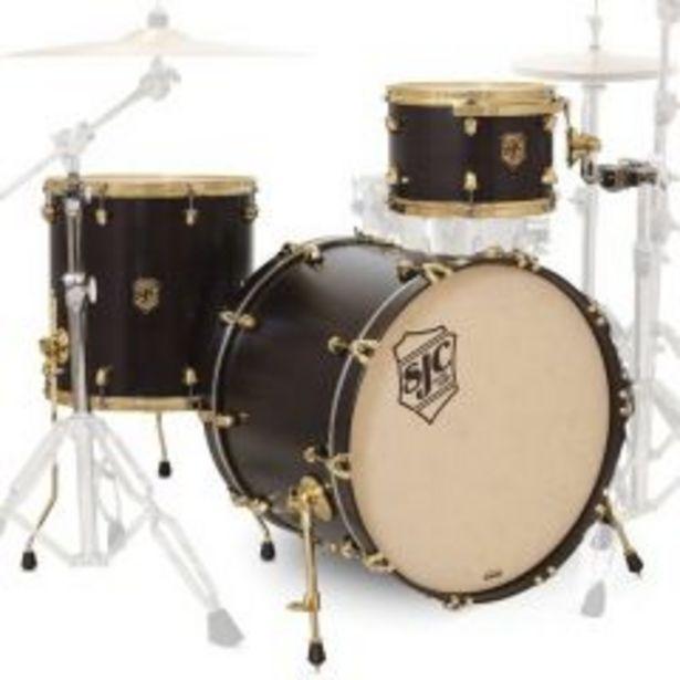 Ofertas de Shell Pack Sjc Drums Tour series TSK322BKSS - hardware dorado por $1799900