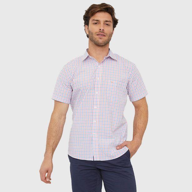 Ofertas de Camisa Escocesa Manga Corta Blanca - Hombre por $9990