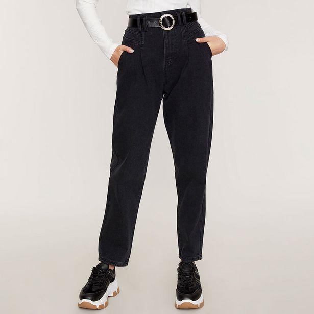 Ofertas de Jeans Slouchy Cinturón I Negro  - Mujer por $16990