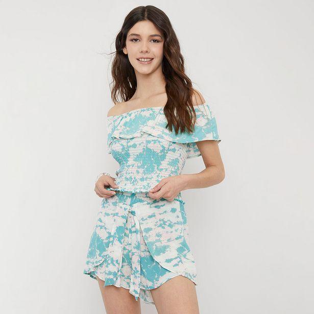 Ofertas de Blusa Panal Vuelos Celeste Tie Dye - Mujer por $8990