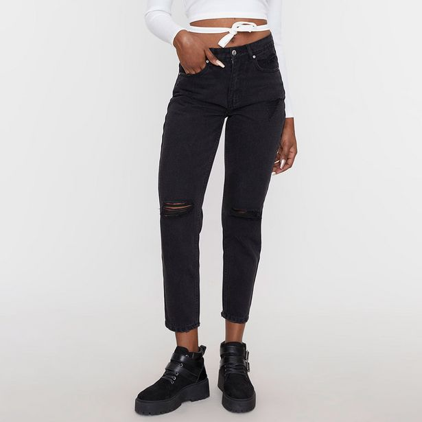 Ofertas de Jeans Mom II Negro  - Mujer por $14990