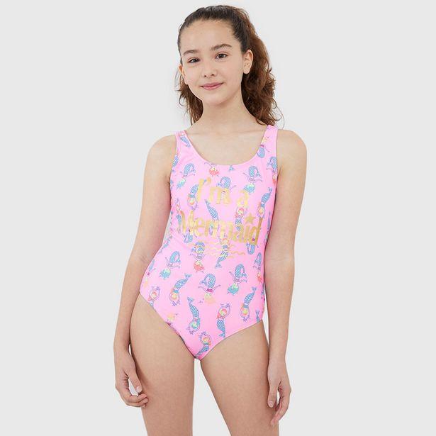 Ofertas de Traje de Baño Mermaid Rosado - Niña por $7990