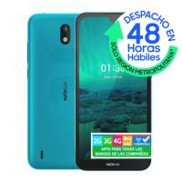 Ofertas de Smartphone Nokia 1.3 16GB/1GB Cyan Blue Entel QR por $79990