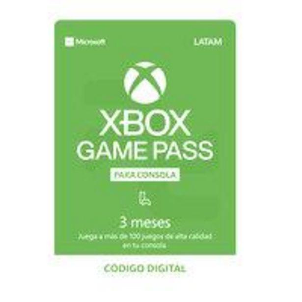 Ofertas de Código Digital Suscripción Juegos  Xbox Game Pass 3 meses por $18390