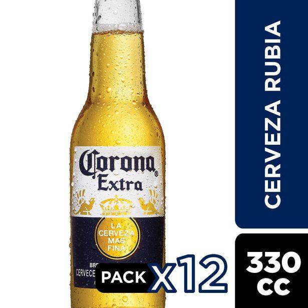 Ofertas de Pack Cerveza Corona Extra botella 12 un de 330 cc por $7990