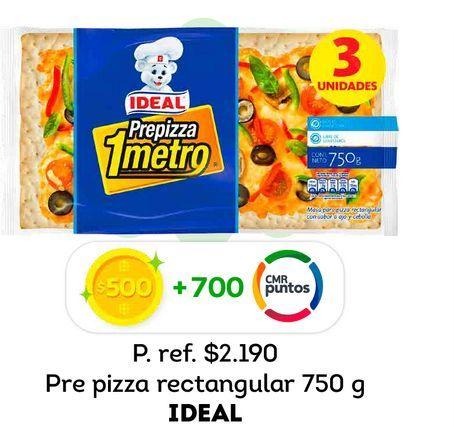 Ofertas de Pre pizza Ideal 750 g por