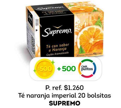 Ofertas de Té naranja imperial Ceylán20 bolsitas supremo por