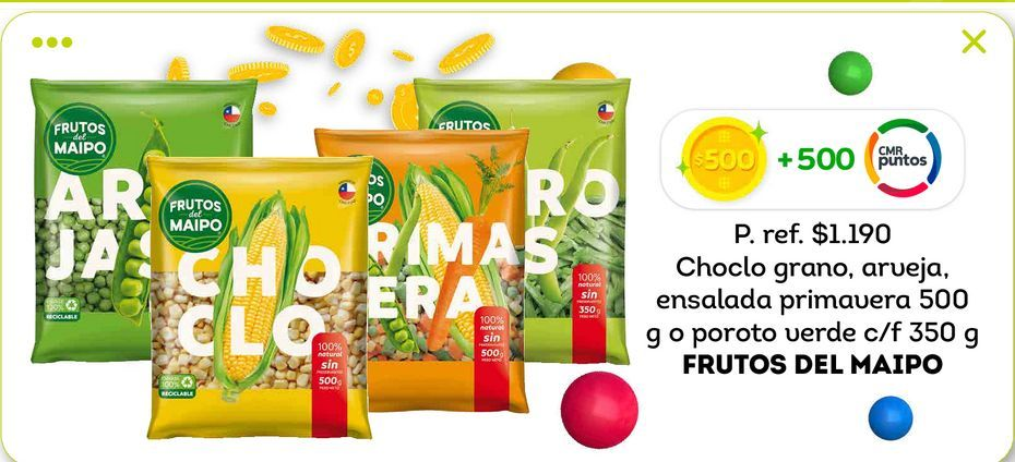 Ofertas de Verduras congeladas Frutos del Maipo por