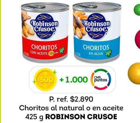 Ofertas de Choritos Robinson Crusoe 425 g por