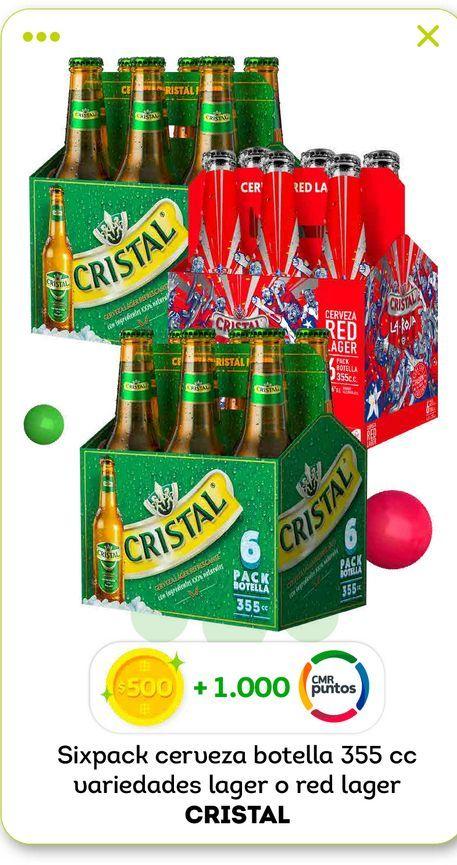Ofertas de Cervezas Cristal 355 cc por