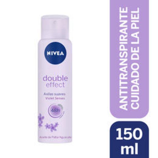 Ofertas de Desodorante Double Effect Violet Senses en Spray por $2890