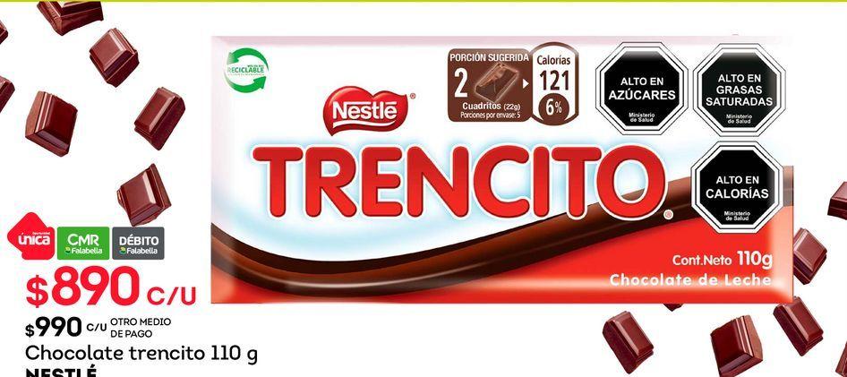 Ofertas de Chocolate trencito 110 g NESTLÉ por $890