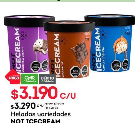 Ofertas de Helados variedades NOT ICECREAM por $3190