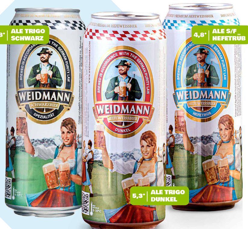 Ofertas de Cerveza lata 500cc variedades WEIDMANN x 4 por $2490