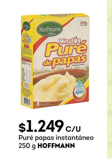 Ofertas de Puré papas instantáneo 250 g HOFFMANN por $1249