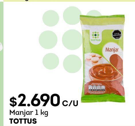 Ofertas de Manjar 1 kg TOTTUS por $2690