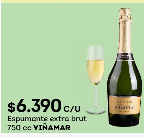 Ofertas de Espumante extra brut 750 cc VIÑAMAR por $6390